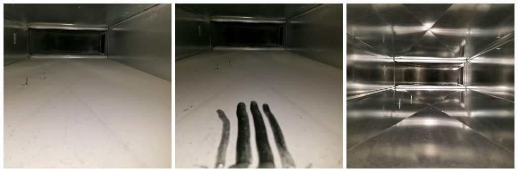 Before and After Duct Cleaning Americlean